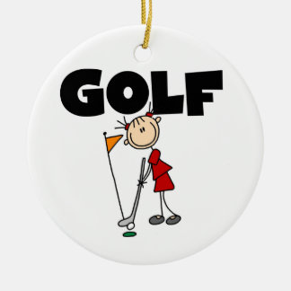 Girls GOLF Ceramic Ornament