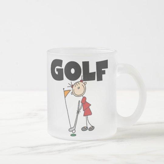 Girls GOLF Frosted Glass Coffee Mug
