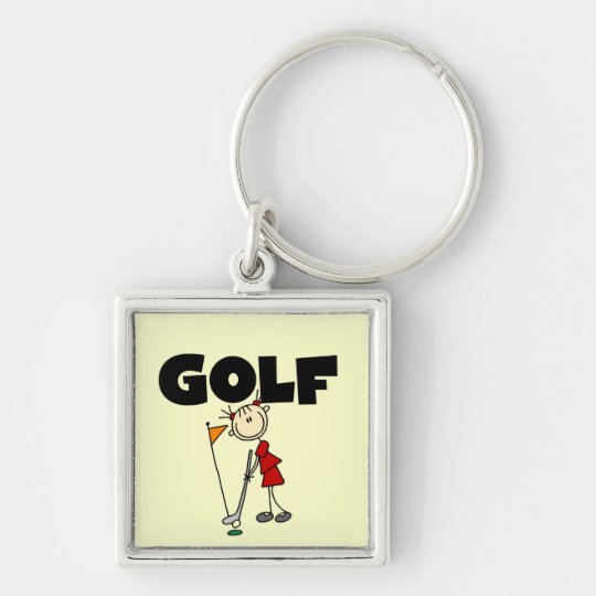 Girls GOLF T-shirts and Gifts Keychain