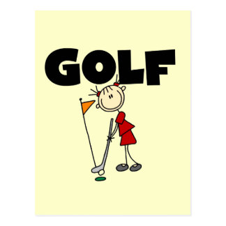 Girls GOLF T-shirts and Gifts Postcard