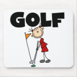 Girls GOLF Tshirts and Gifts Mouse Pads