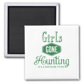 Girls Gone Hunting 2 Inch Square Magnet