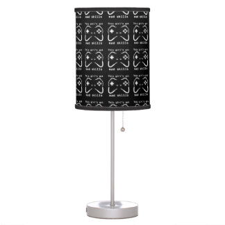 Girl's Got Mad Skills Video Game Controller Table Lamp