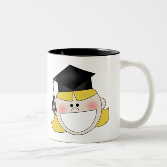 Girls Graduation T-shirts and Gifts Two-Tone Coffee Mug
