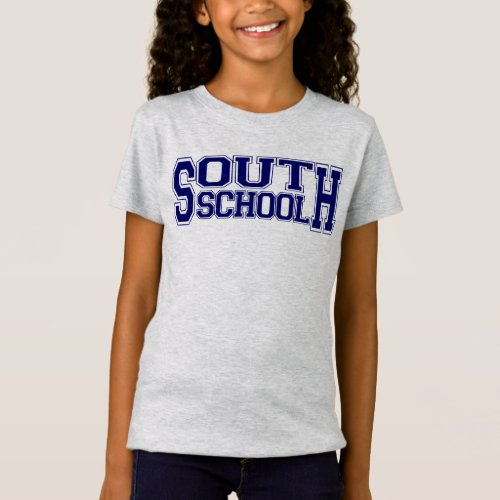 Girls Grey South School Varsity RUNS SMALL T_Shirt