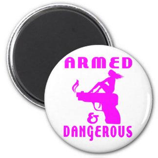 GIRLS & GUNS 2 INCH ROUND MAGNET