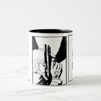 Girls, Guns and Caffeine Two-Tone Coffee Mug