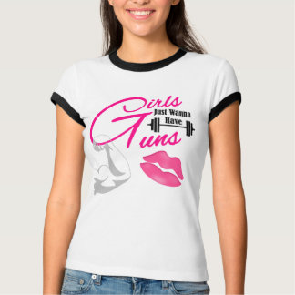 """""""Girls/Guns"""" Women's Ringer TSHIRT"""