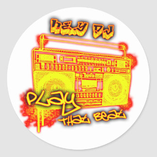 girls guys rap urban dance crunk hip-hop music classic round sticker