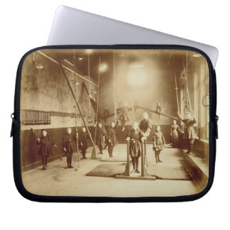 Girl's Gymnasium at the Deaf and Dumb Institution, Laptop Sleeve