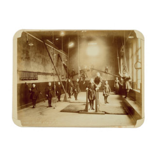 Girl's Gymnasium at the Deaf and Dumb Institution, Rectangular Photo Magnet