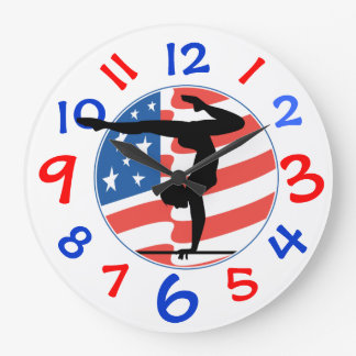 Girl's Gymnastic Clock