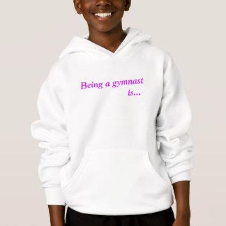 Girls gymnastic inspirational hoodie
