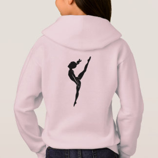 Girl's Gymnastics Pink Hoodie