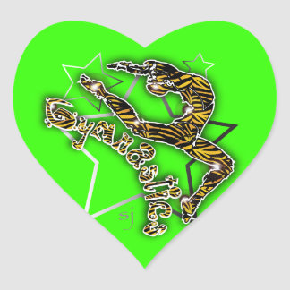 Girls Gymnastics Stickers Heart Sticker
