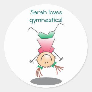 Girls Gymnastics Stickers