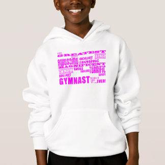 Girls Gymnasts : Pink Greatest Gymnast Hoodie