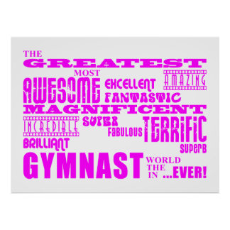 Girls Gymnasts : Pink Greatest Gymnast Poster