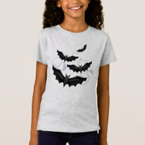 Girls Halloween Bats T-Shirt