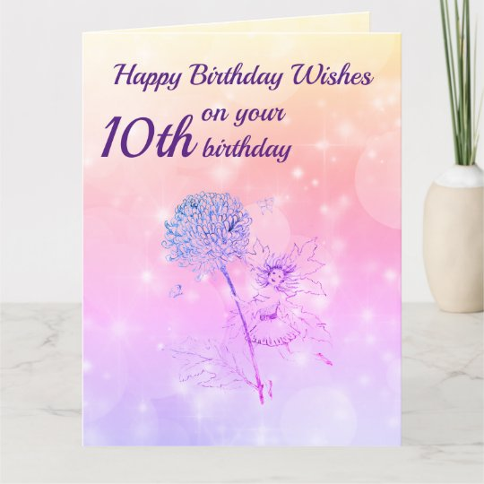 Girls Happy 10th Birthday Greeting Card