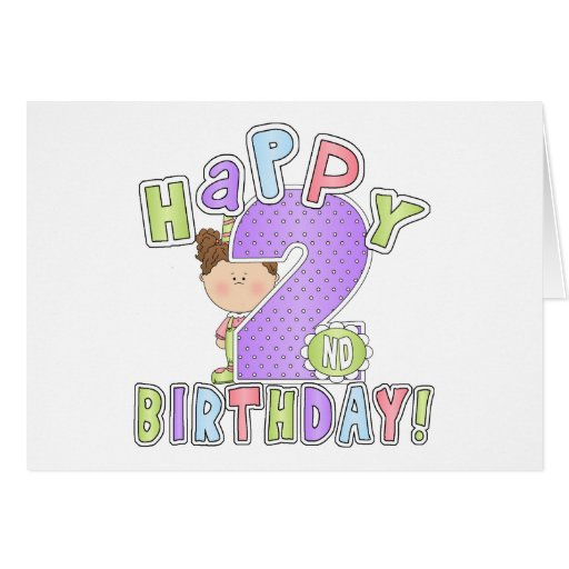Two Year Old Girl Birthday Card Quotes