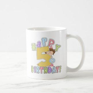 Girls Happy 5th Birthday Classic White Coffee Mug
