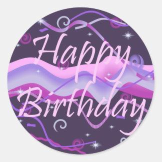 Girl's Happy Birthday Sticker