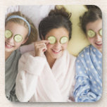 Girls having a facial coaster