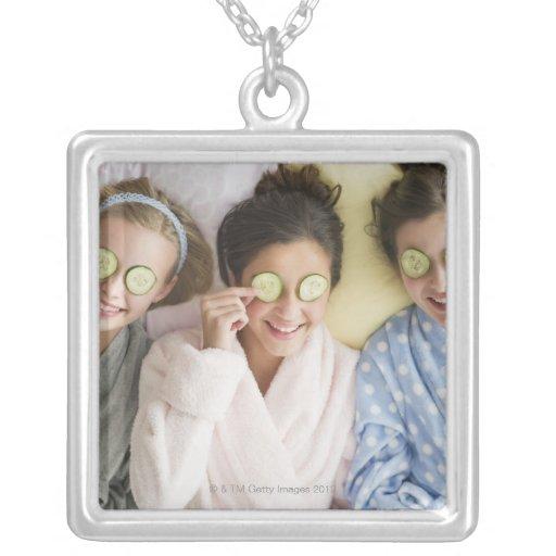 Girls having a facial custom jewelry