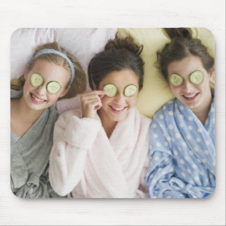 Girls having a facial mouse pad