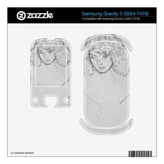 Girls head by Gustav Klimt Samsung Gravity 3 Skin
