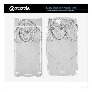 Girls head by Gustav Klimt Xperia Arc Skins