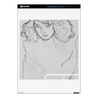 Girls head by Gustav Klimt Decal For PS3 Slim