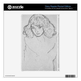 Girls head by Gustav Klimt Skin For Sony Reader