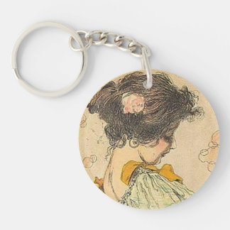 Girls Heads in a Circle 003 Keychain