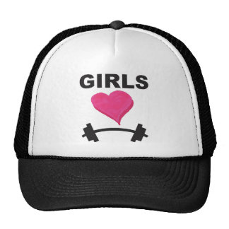 Girls Heart Barbells - Weightlifting Love Trucker Hat