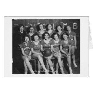 Girls High School  Basketball Team Card
