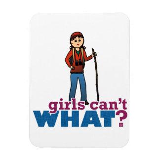 Girls Hiking Rectangular Photo Magnet