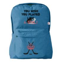 Girls Hockey Backpack ~ Back to School