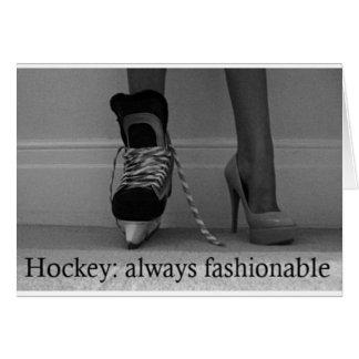 Girls Hockey is always Fashionable Card