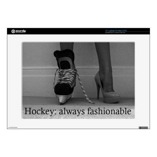 Girls Hockey is always Fashionable Decal For Laptop