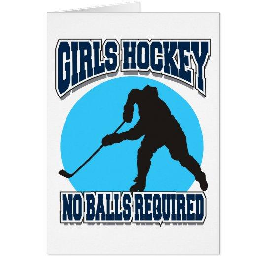 Girls Hockey - No Balls Required Card