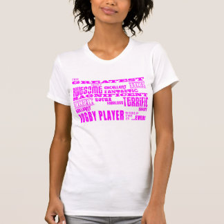 Girls Hockey : Pink Greatest Rugby Player Tees