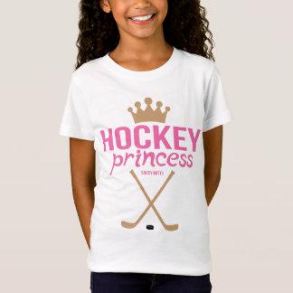 Girls Hockey Princess Pink Sticks T-Shirt