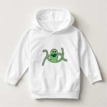 Girls Hoodie - Green Cartoon - Green Octopus