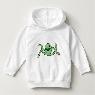 Girls Hoodie - Green Cartoon - Green Octopus