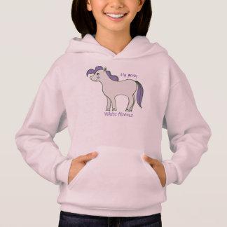 "Girls' Hoodie ""Pony White Hooves"""