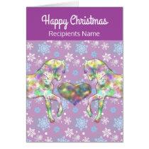 Girls Horse Christmas Card