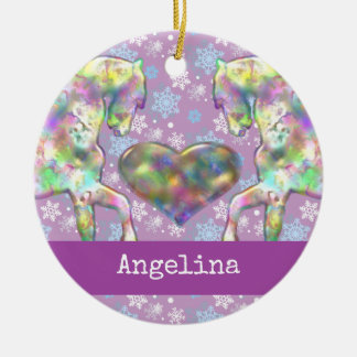 Girls Horse Christmas Ornament