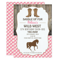 girls horse wild west birthday party invitation - Horse Party Invitations